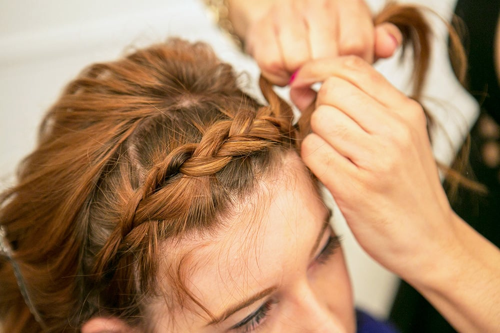 The braid should pop along your hairline.
