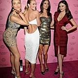 Alessandra, Adriana, and Candice Put Their Bikinis Away to Party With Fellow Angel Miranda Kerr