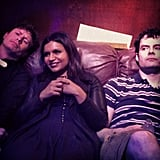 Mindy Kaling shared a behind-the-scenes look at Anders Holm and Bill Hader on the set of The Mindy Project. Source: Instagram user mindykaling