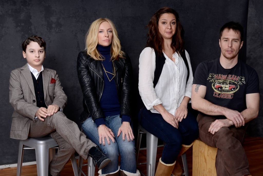 The Way, Way Back stars River Alexander, Toni Collette, Maya Rudolph and Sam Rockwell practiced some good posture — and humour — inside the Sundance portrait studio.