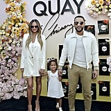 Chrissy Teigen, John Legend, and Luna at Quay Event | Photos