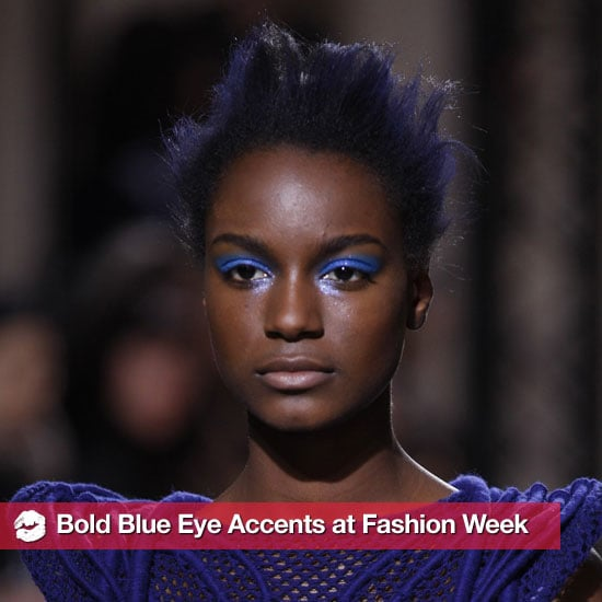 Blue Eye Shadow Trend at Various Fall 2011 Fashion Weeks