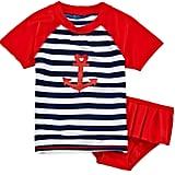 Sailor Love Rash Guard Swimmer Set