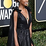 Issa Rae's Golden Globes Beauty Look Is Stunning Even From the Back