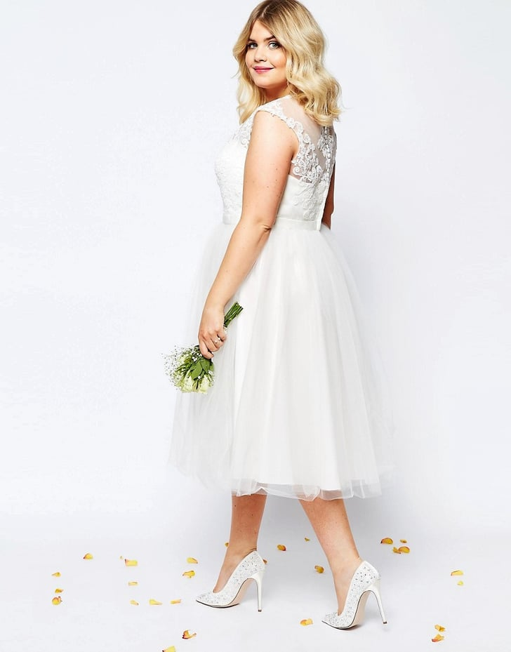 Asos curve bridal lace sweetheart tutu midi dress 305 for Plus size midi dresses for weddings