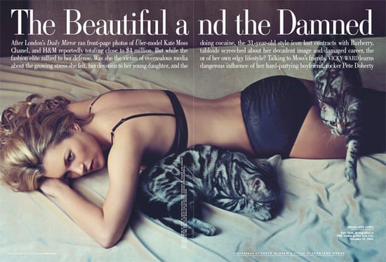 Supermodels on the pages of Vanity Fair