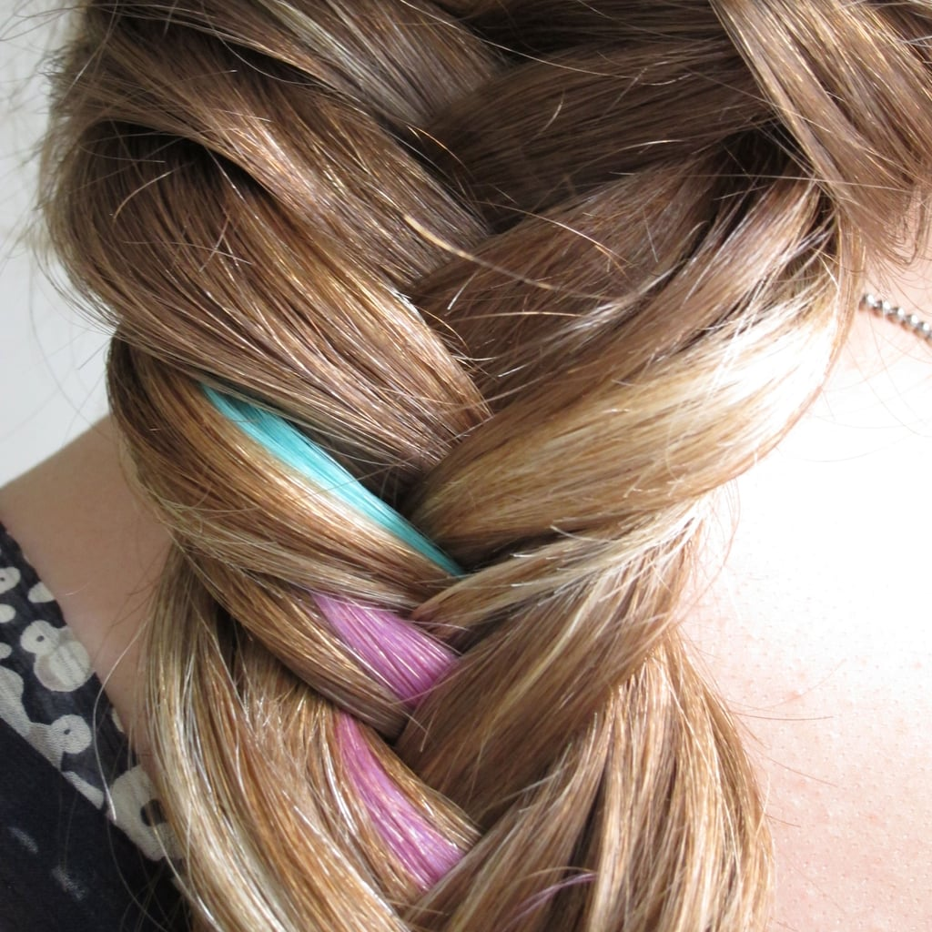 How To Do A Colorful Fishtail Braid Hair Tutorial With Pictures