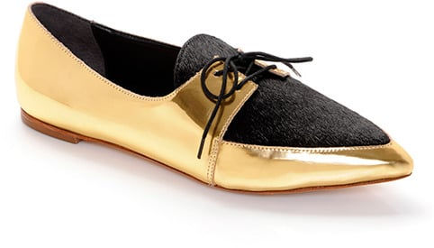 I imagine that putting on Loeffler Randall's lace-up creepers ($236, originally $295) is like traveling back in time; they remind me so much of Jazz Age dancing shoes. If I'm lucky enough to receive these flats, I'll be pairing them with slim black pants and a matching blazer for a '20s-inspired night out on the town.  — Britt Stephens, assistant entertainment editor