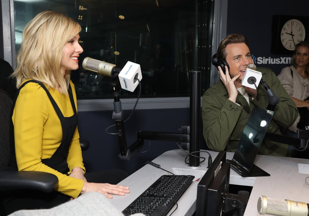 Kristen and Dax shared a good laugh on Wake Up With Taylor! at the SiriusXM Studios in New York in March 2017.