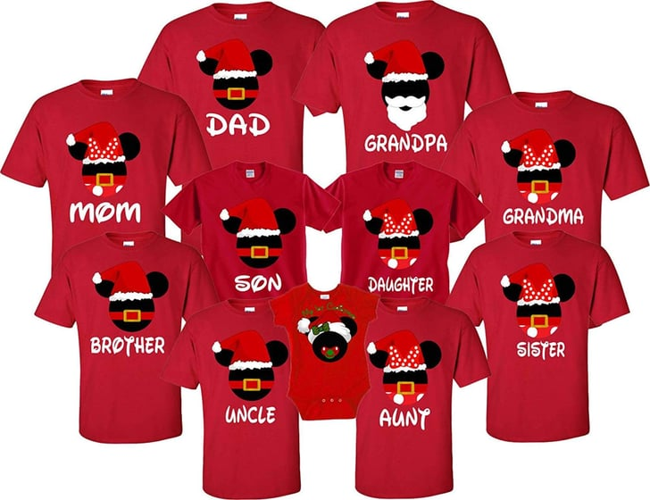 Matching Christmas Shirts For Family.Matching Family Disney Holiday Shirts Popsugar Family