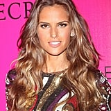 Izabel Goulart wore a patterned dress to the Victoria's Secret Fashion Show afterparty following her turn on the runway.