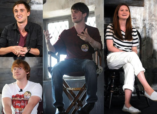 Pictures of Harry Potter Cast at Wizarding World Press Conf Bonnie Wright, Daniel Radcliffe, Rupert Grint, Tom Felton