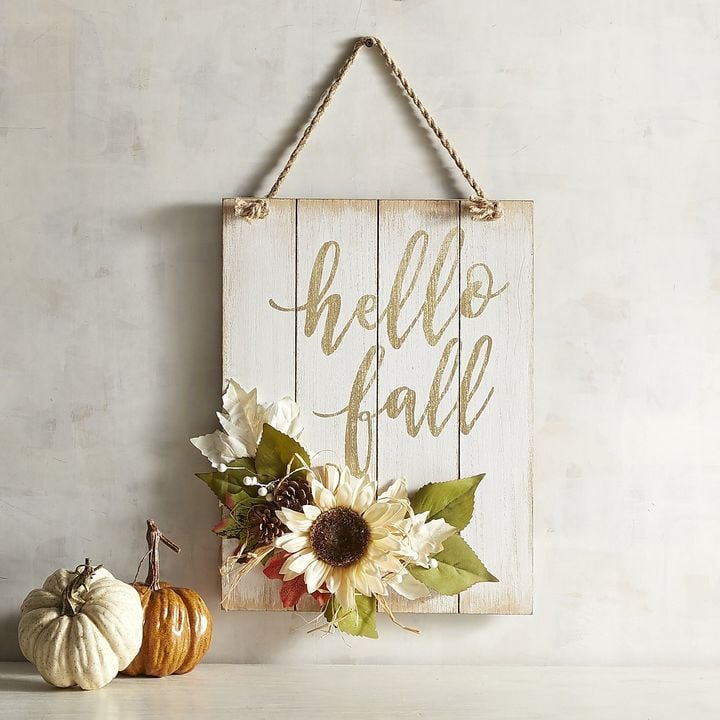 Pier 1 Imports Hello Fall Wall Sign