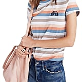 Madewell Women's Embroidered Rainbow Stripe Tee