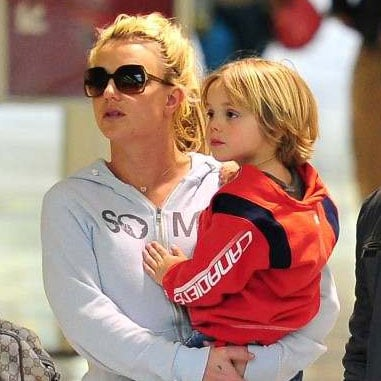 Pictures of Britney Spears With Jason Trawick and Jayden and Sean Preston at LAX