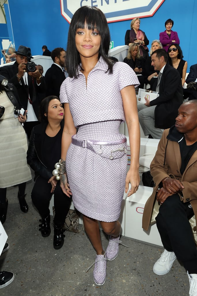 Last year, Paris Fashion Week provided a whole lot of opportunities for Rihanna to dazzle us, style-wise. For the Chanel show, she decked herself out in couture from the house — fanny pack included.