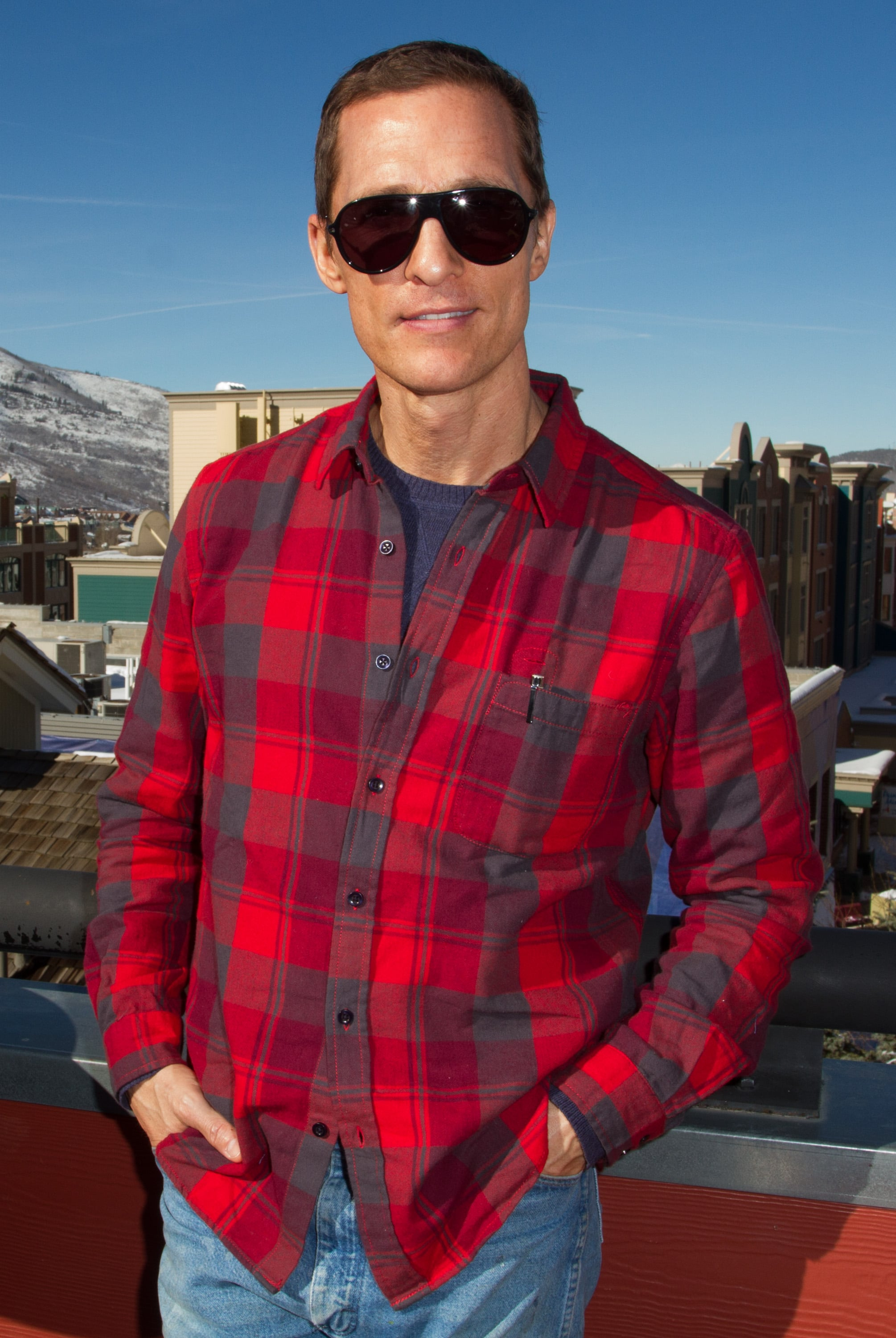 Matthew McConaughey kept his shades on while hanging out at the festival in 2013.