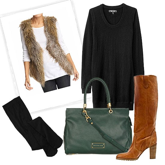 How to Wear a Sweater Dress 2012