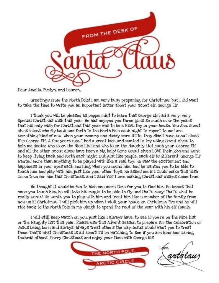 Moms elf on the shelf retirement letter popsugar family greetings from the north pole m4hsunfo