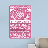 If It Involves Fighting Evil By Moonlight Wall Decal ($40, originally $50)