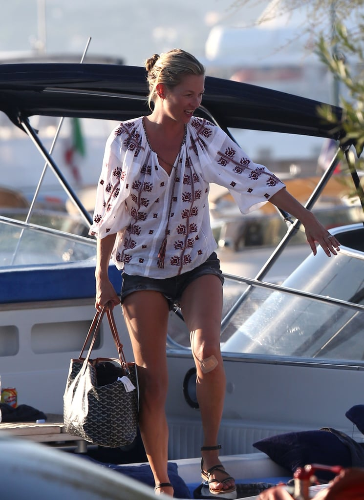 Kate Moss Dives Right Into Bikini Life in Saint-Tropez