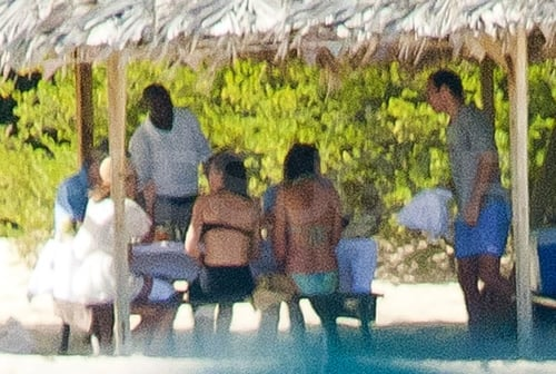 Kate Middleton and Prince William hung out with the Middletons in Mustique.