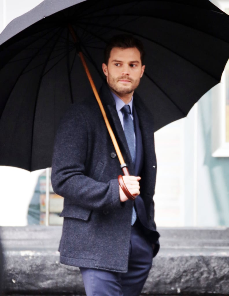 When he does have an umbrella, it's the largest umbrella that has ever existed.