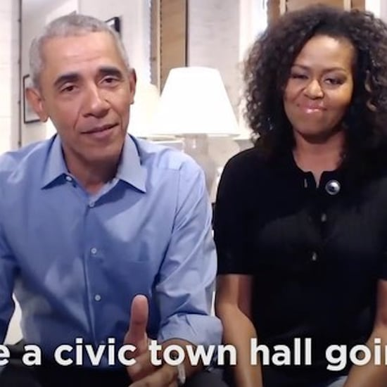 Barack and Michelle Obama Crash a Town Hall Meeting | Video