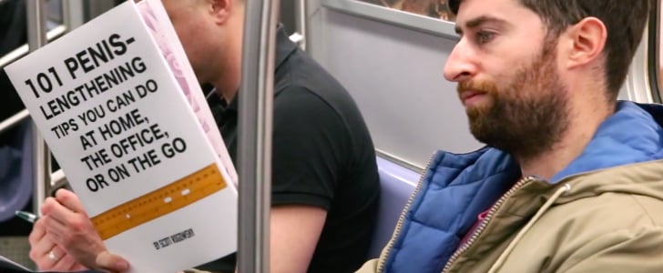 This Comedian Reads Books With Fake Titles on the Train, and It's HILARIOUS