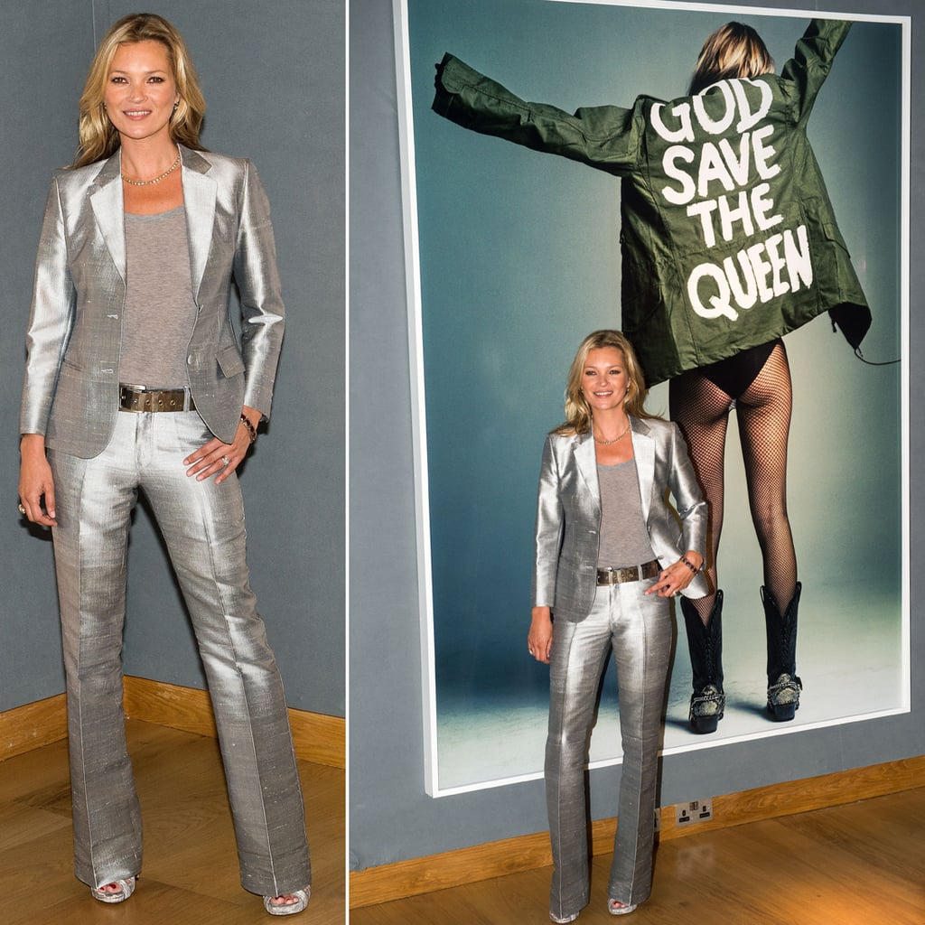 Kate Moss Silver Suit at Christie's