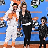 Mariah Carey, Nick Cannon and their kids Monroe and Moroccan