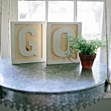 Reclaimed Wood Letters Add Personality