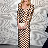 Kirsten chose a statement-making checked dress from the Louis Vuitton Spring '13 collection for the Art of Elysium Heaven Gala in January 2013.