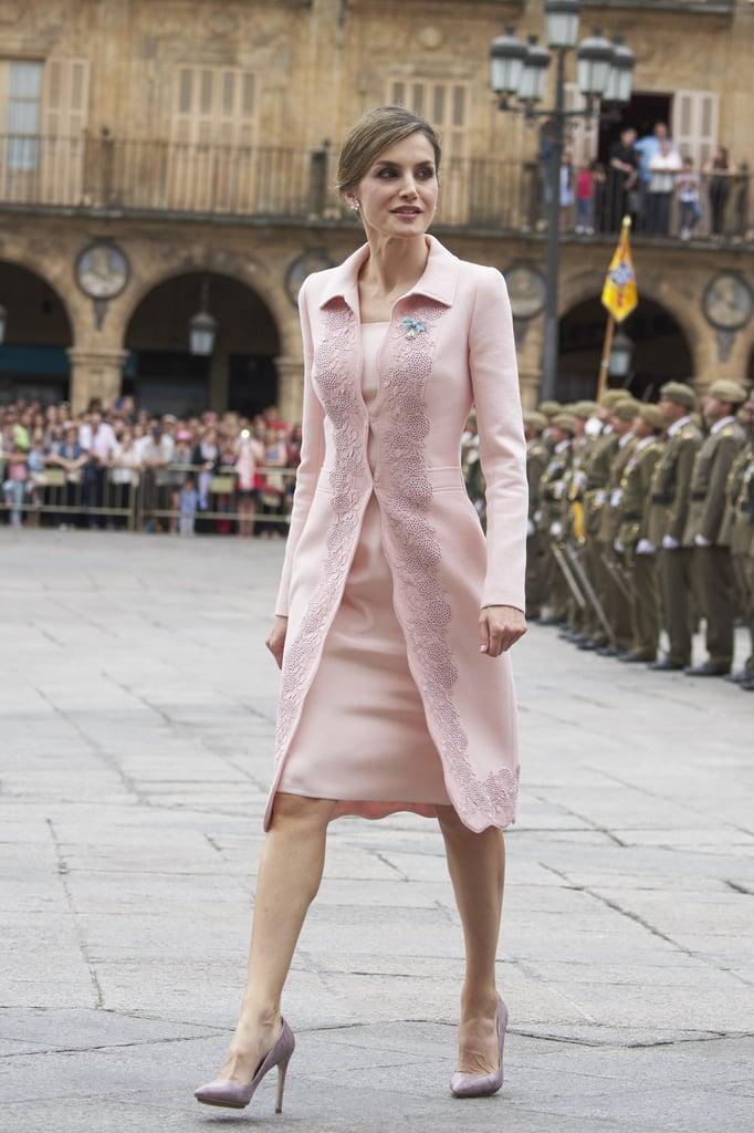 Queen Letizia's Pink Coat June 2016 | POPSUGAR Latina