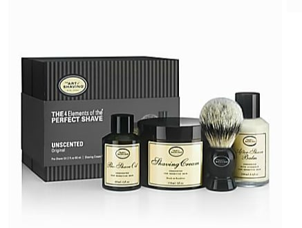 Because a great shave is something you'll both appreciate, gift the ultimate shaving experience with this full-size The Art of Shaving kit ($115).