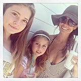 Brooke Burke-Charvet grabbed lunch with her girls, Sierra and Neriah. Source: Instagram user thebrookeburke
