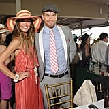 Sharni Vinson and Kellan Lutz at the Kentucky Derby.