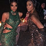 She and Gabrielle Union Posed Together at the Dinner Table