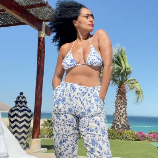 Tracee Ellis Ross's Tory Burch Beach Pants and Bikini Set