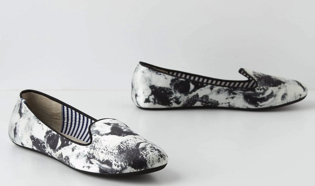 The artsy print juxtaposed against this borrowed-from-the-boys silhouette will punch up a basic khaki trouser and button-up ensemble to cool-girl status. Anthropologie Smoldering Loafers ($155)
