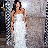 Priyanka Chopra Bridal Shower Dress Marchesa 2018