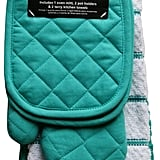 Mainstay Teal Island Kitchen Towel Set