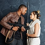 Finn and Rey From Star Wars