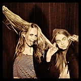Poppy and Cara Delevingne got silly together in a photo booth. Source: Instagram user poppydelevingne