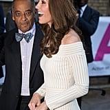 Kate Middleton in White Off-the-Shoulder Dress June 2019