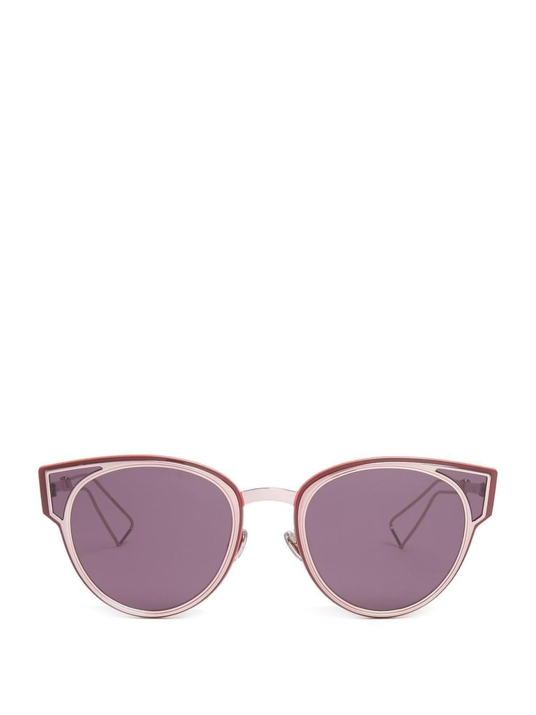 The purple lenses and pink frames of these Dior Sculpt Cat-eye Sunglasses ($395) make for a girly but glam mix.