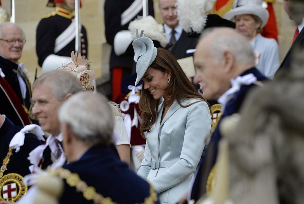 Prince William Steals a Smiley Glance at Kate During a Big Royal Parade