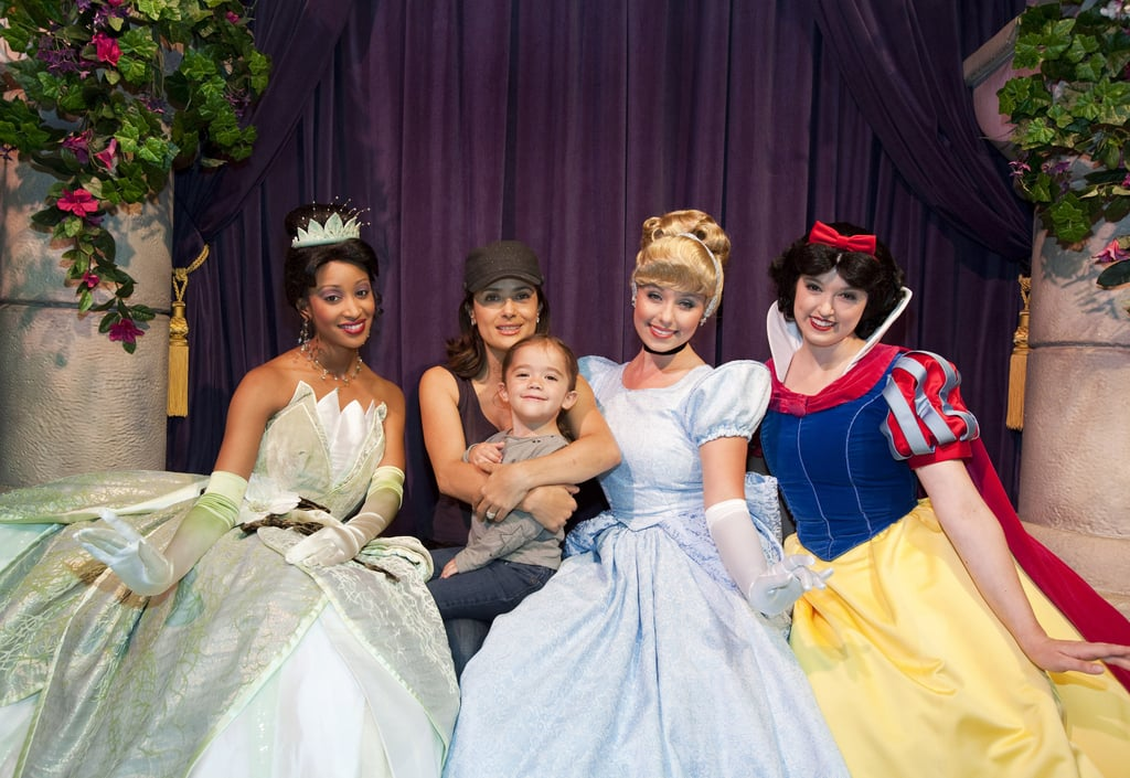 Salma Hayek and Valentina Pinault enjoyed some time with the Disney princesses during a 2010 visit to the park.