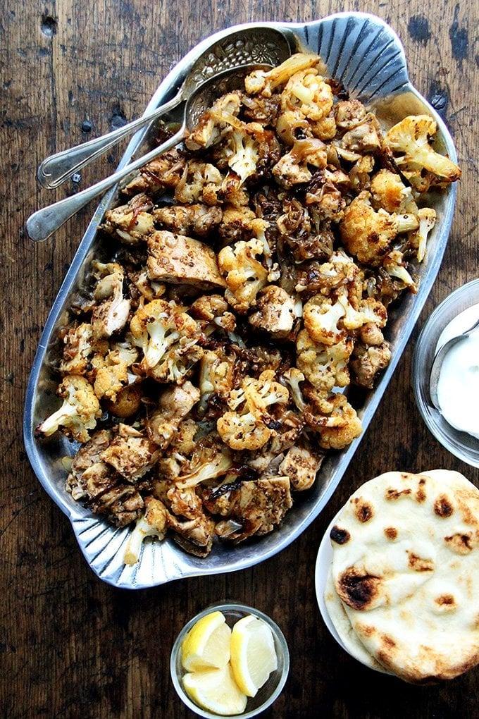 "Sheet-Pan Chicken and Cauliflower ""Shawarma"""