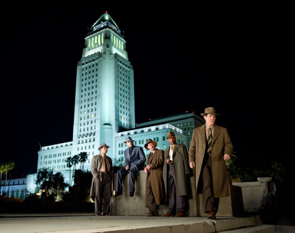 Michael Peña,  Robert Patrick, Josh Brolin, Anthony Mackie, and Ryan Gosling in Gangster Squad.